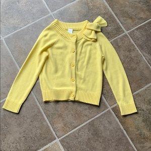 Gymboree yellow cardigan size 7-8 medium